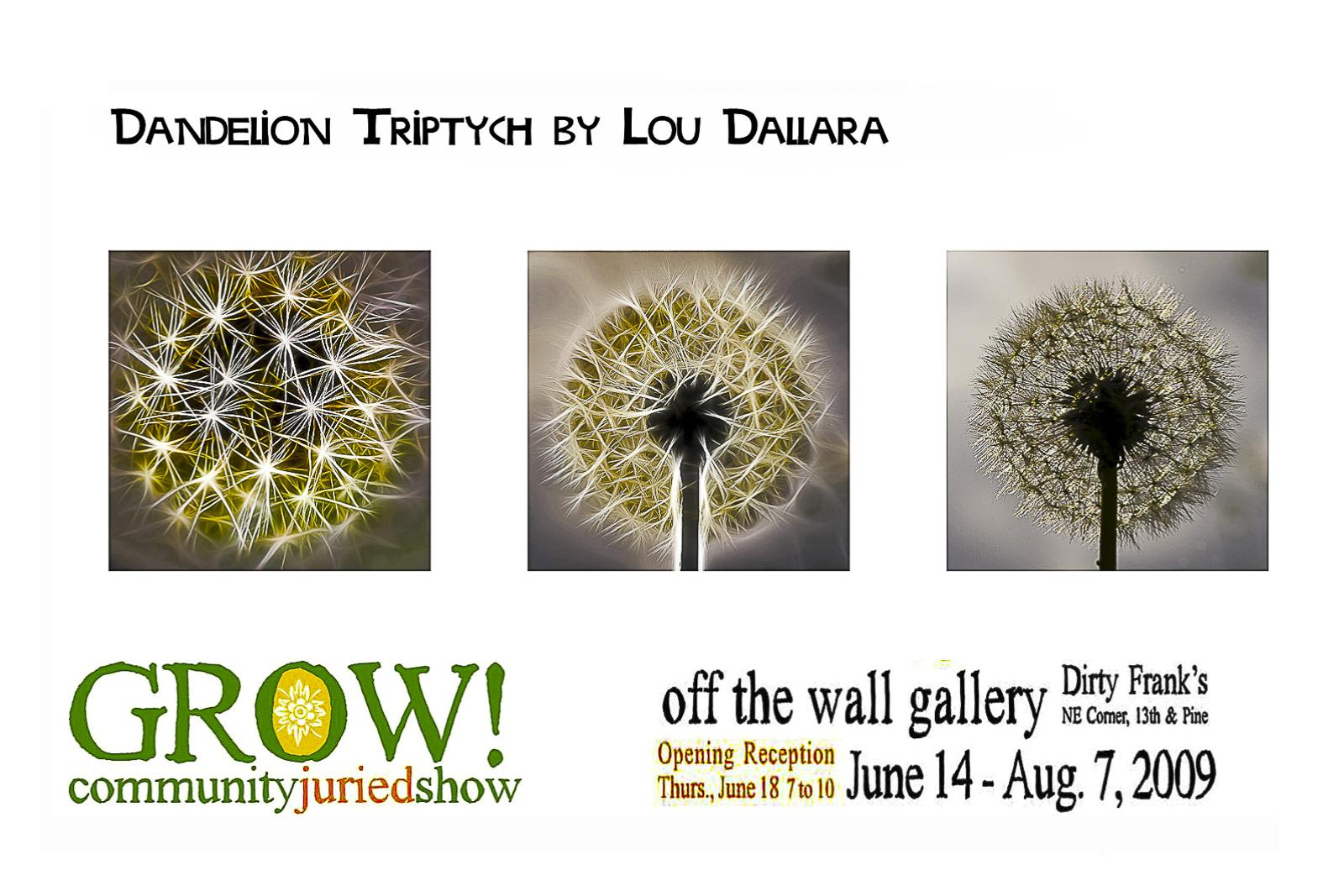 dandelion-triptych
