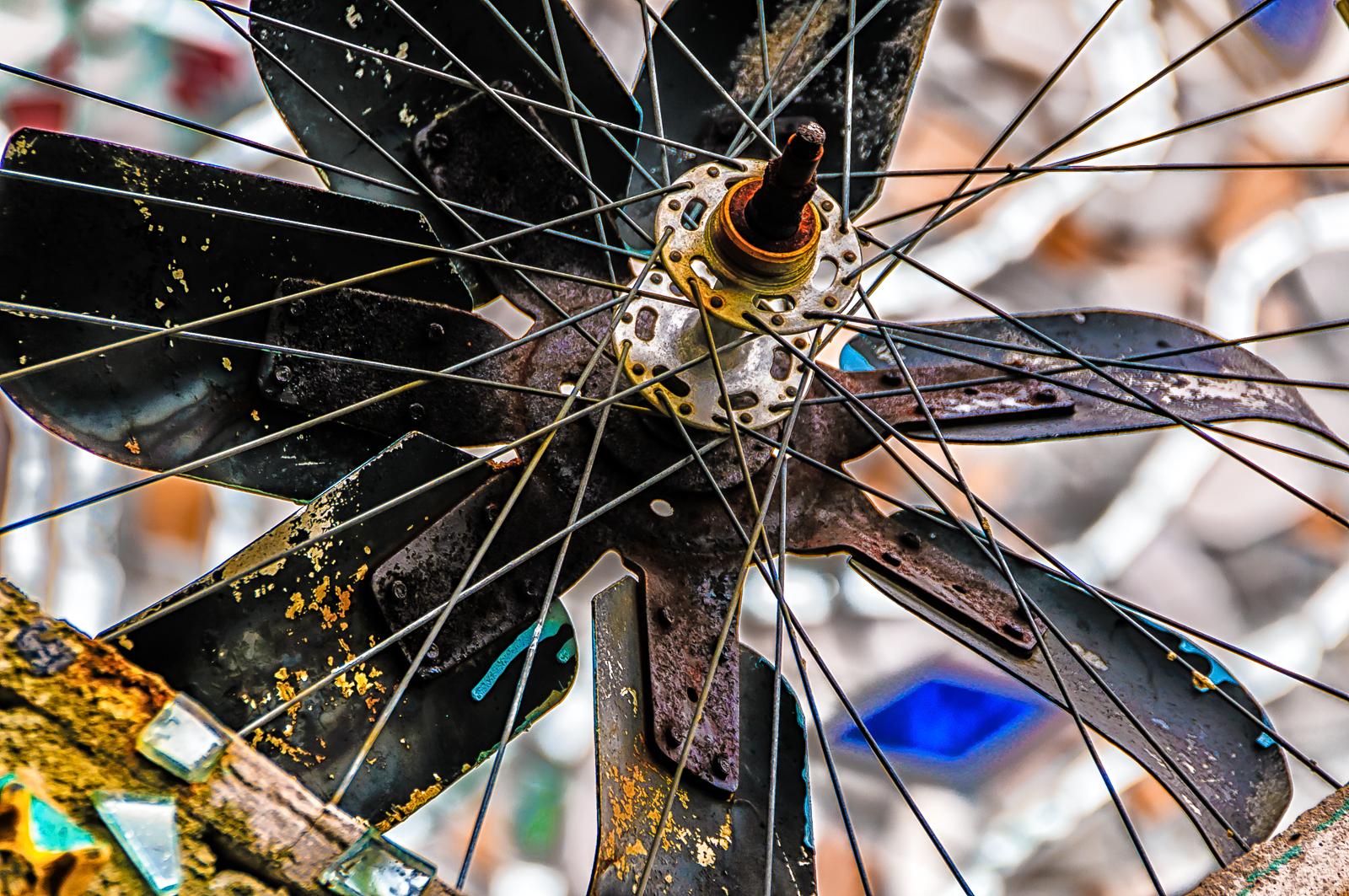 photograph of a wheel at magic-garden-1