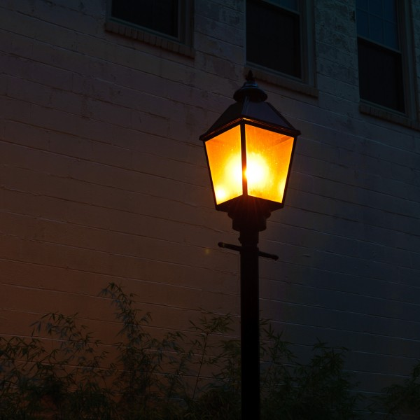 Light Post at Night in Haddonfield NJ