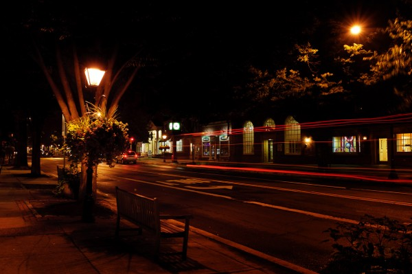 Tails Lights in Downtown Haddonfield