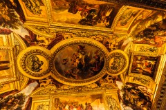 Photograph of the Ceiling at the-Versailles-castle