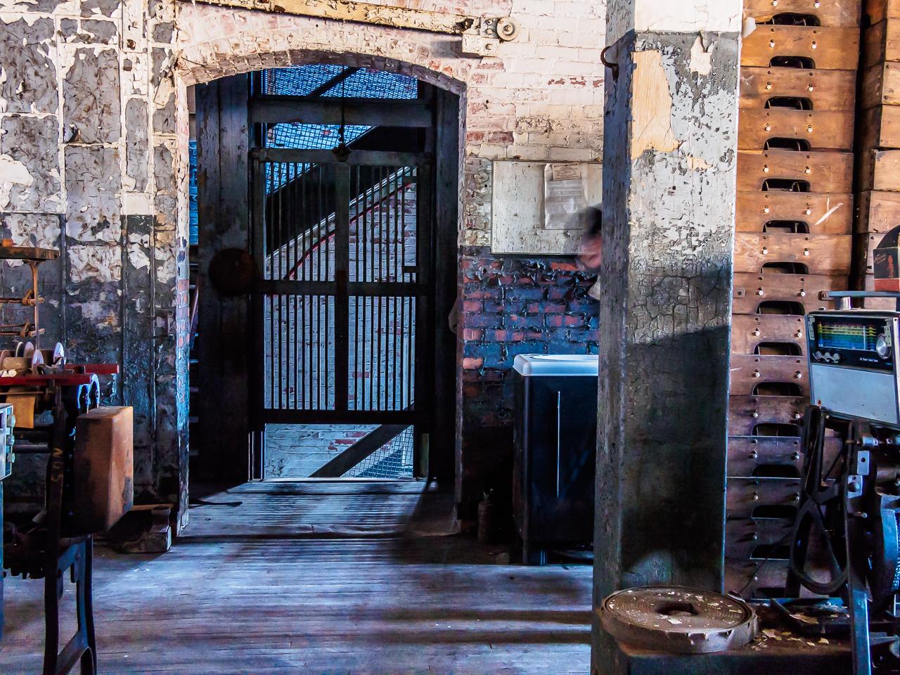 Photo of doorway silk mill