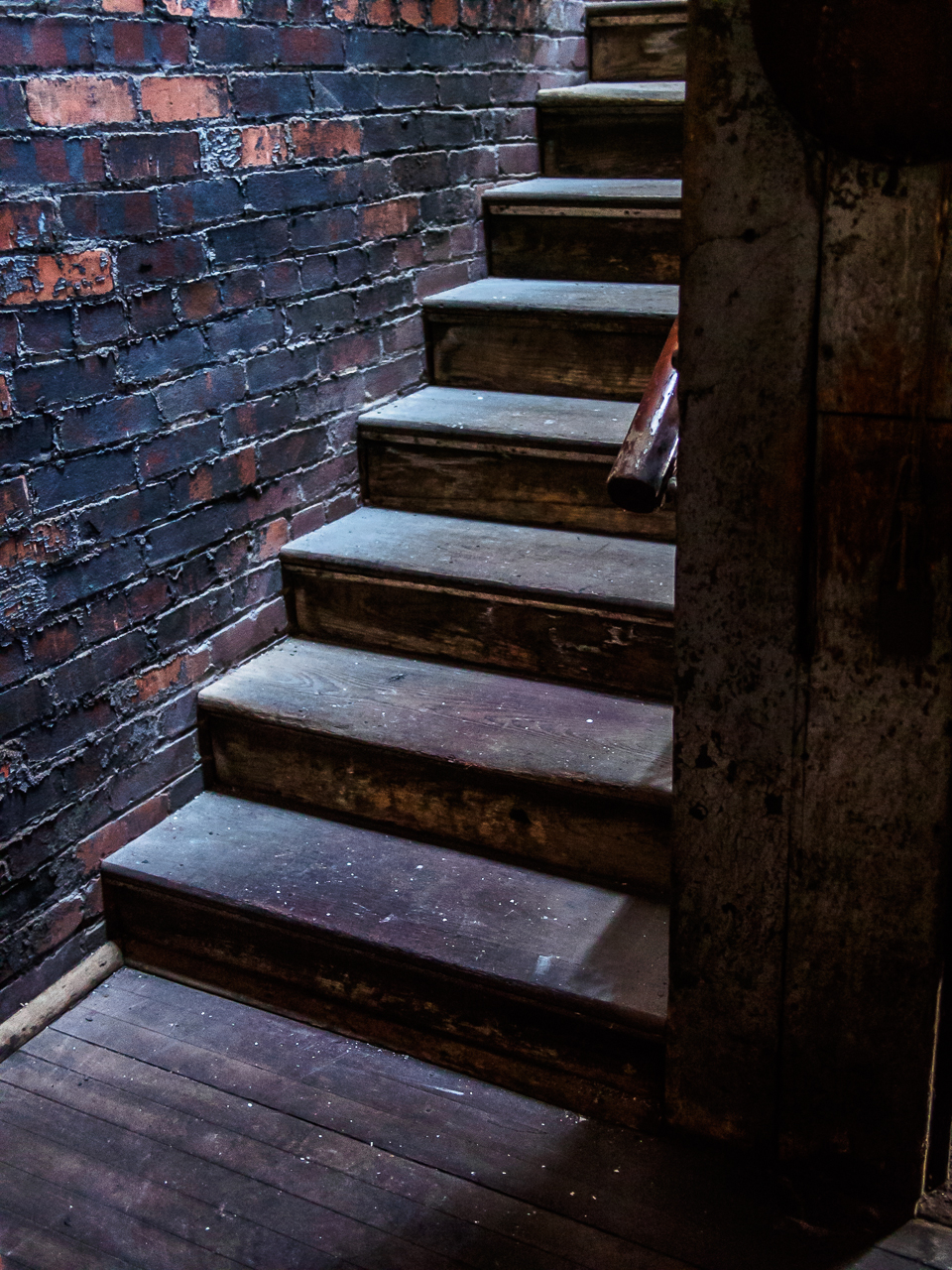 Photo of stairs at silk mill