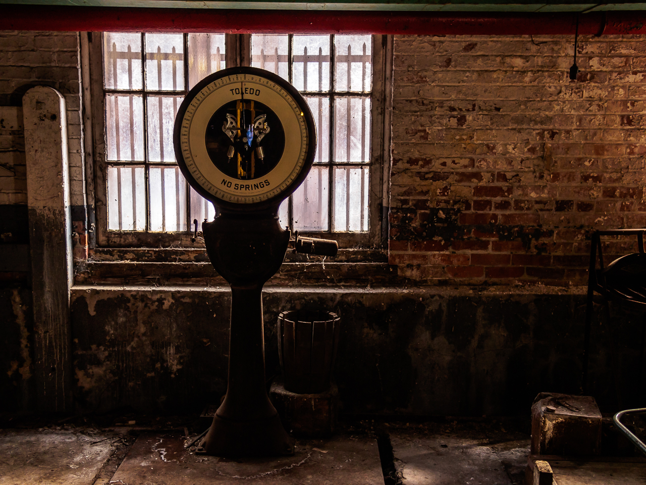 Photo of a scale at silk mill