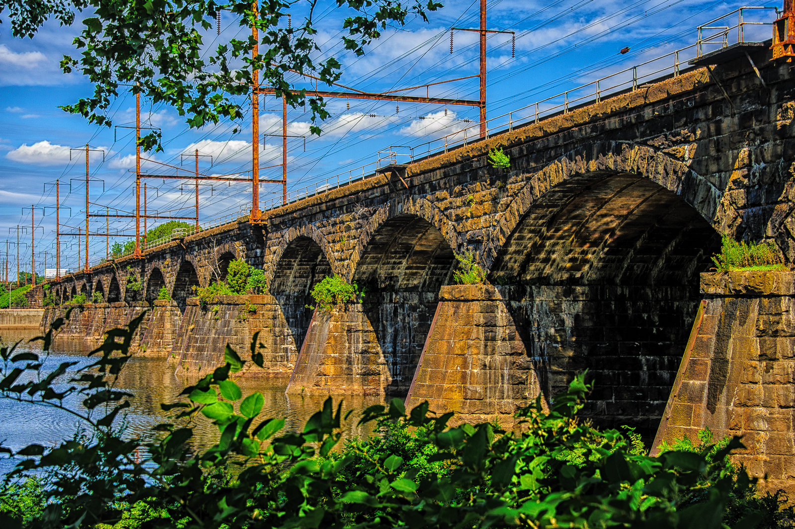 Photograph of a Trenton-railroad-bridge