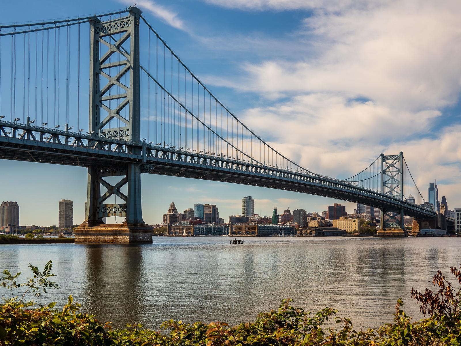 ben franklin bridge photograph