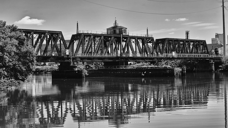 real old rail-road-bridge-