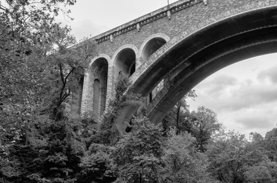 Bridge monochrome photograph