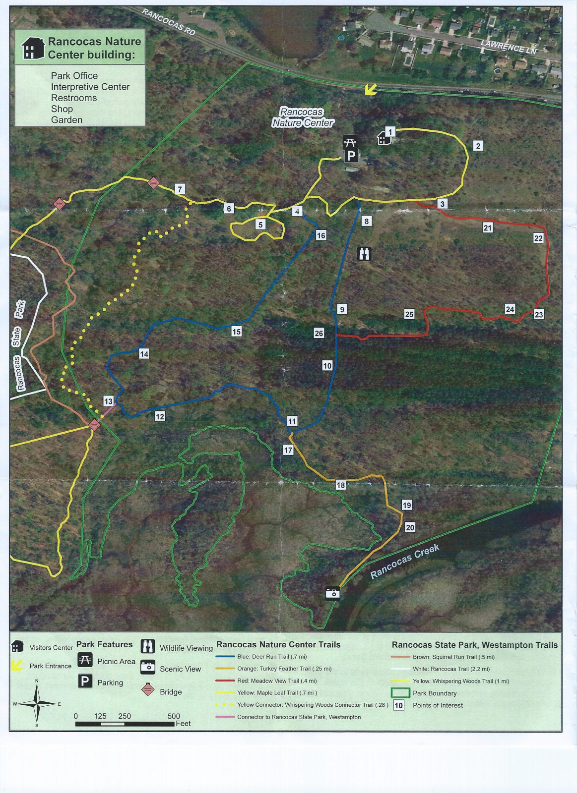 Landscape Rancocas Trails Map